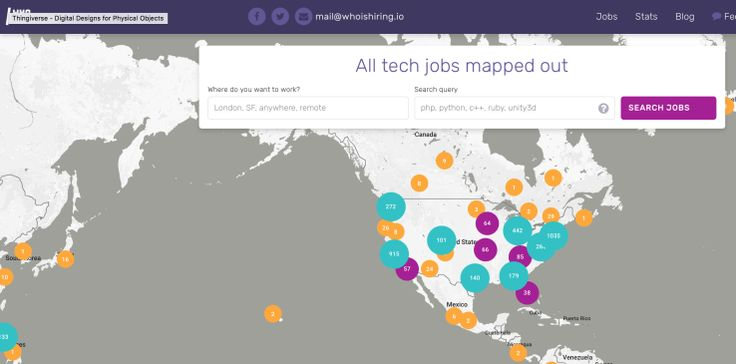 WhoIsHiring is a clever site that aggregates startup jobs around the world. The unique angle -- a map that shows you exactly how many jobs are in a particular..