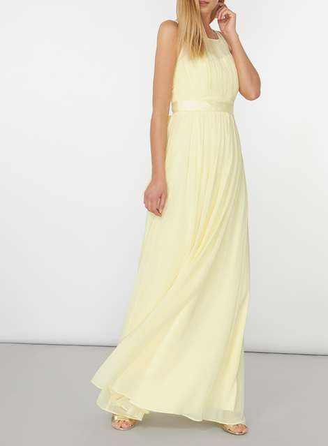 20 best yellow weddings images on pinterest yellow for Yellow maxi dress for wedding