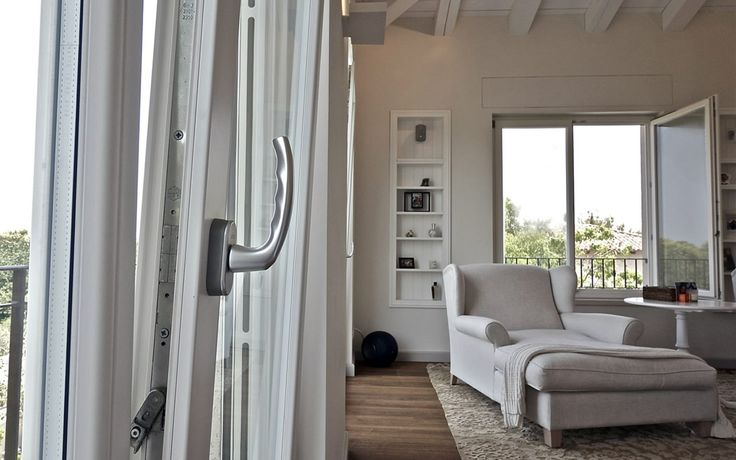 There is particular attention to detail such as rounded glass stop, wood drip cap, covered hinges and stationary sash levers.