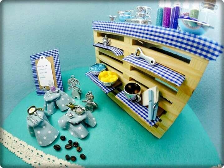 Imagina Abalorios, mini restaurante recreado con nuestros abalorios www.imaginabalorios.es