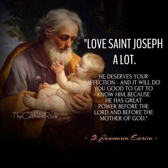 St. Joseph- he doesn't get near the respect he deserves. When choosing a protector, a caregiver for His Divine Son, God chose St Joseph from all men. Honor him as Jesus did.