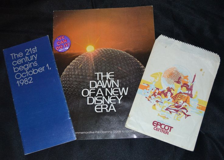 Items from Epcot Center's opening in 1982.