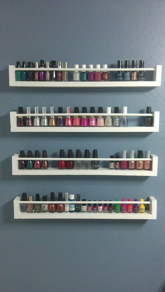 Modern DIY Nail Polish Rack Ideas – Every Girl's Dream