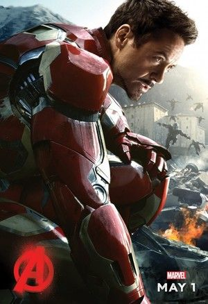 Robert Downey Jr. has revealed an Iron Man character poster for 'Avengers: Age of Ultron', while also teasing a big announcement for next week.