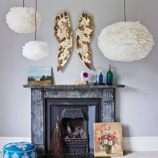 Just ordered this amazing Feather Pendant from Graham & Green...will look beautiful in the Angel/Heaven Room I'm designing + decorating for the guest room :0)