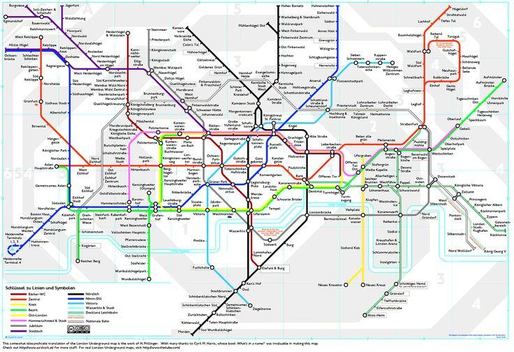 The London Underground map … in German.
