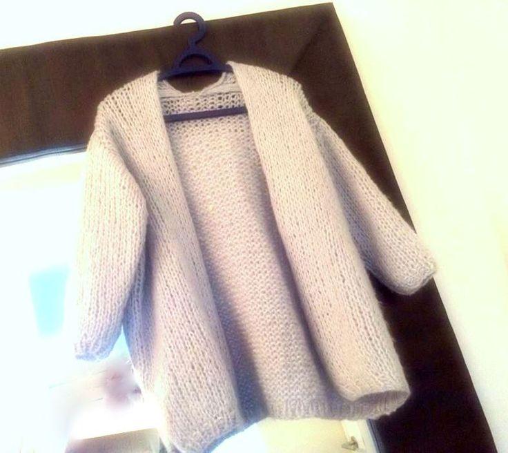 Selfmade oversized Bernadette cardigan - Mountain wool/Grey