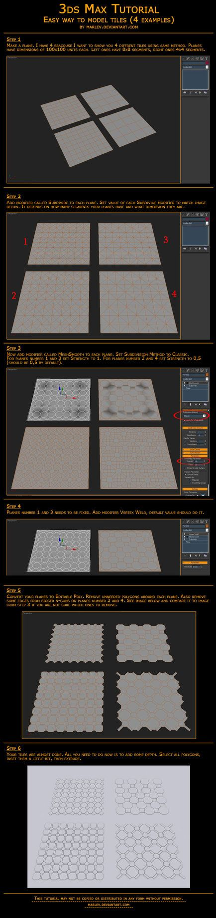 Making of tiles in 3ds Max by marlev on DeviantArt