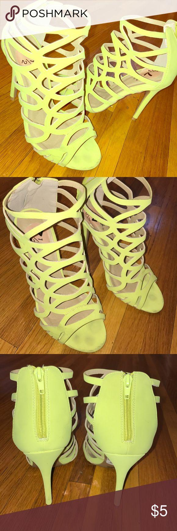 Neon yellow heels Neon yellow heels, super unique and comfy. Worn once! Shoes Heels
