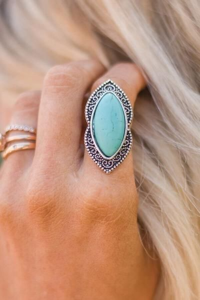 Gypsy Turquoise   Silver Rings