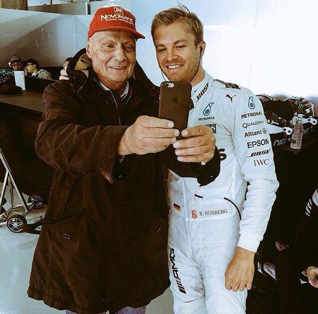 Niki Lauda and Nico Rosberg