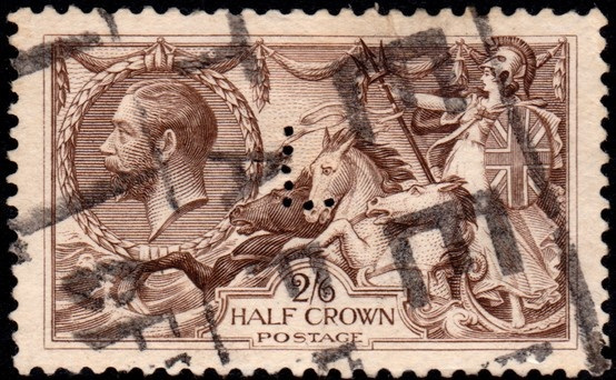 "Scott #173, ""Britannia Rules the Waves"" Great Britain, 1913-1918 King George V"