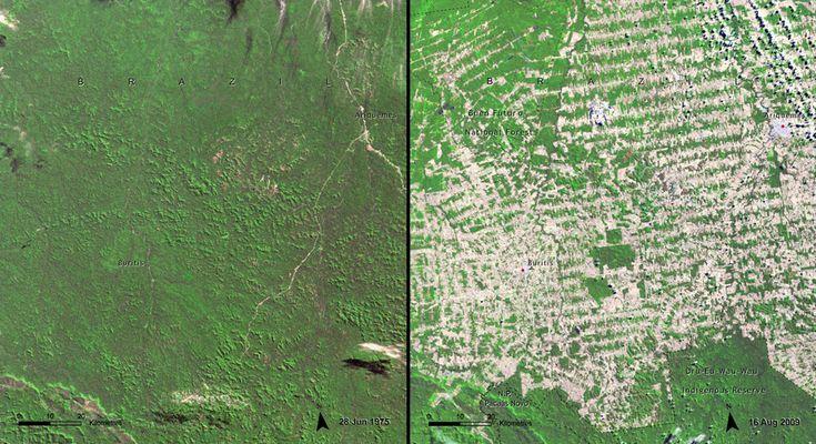 15 impresionantes imágenes de la NASA que muestran las consecuencias del calentamiento global desde el espacio.
