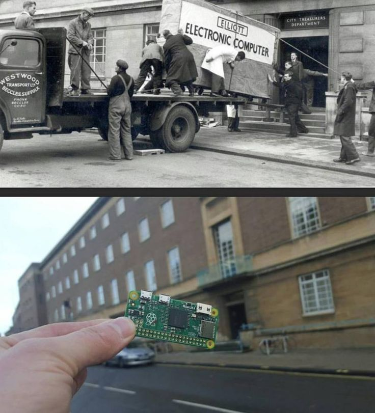 Dos imágenes con 50 años de diferencia para resumir la evolución de la informática.