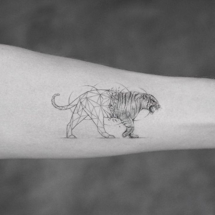 Best Geometric Tattoo - Nice geometric tiger tattoo idea by mr.k_tattoo...