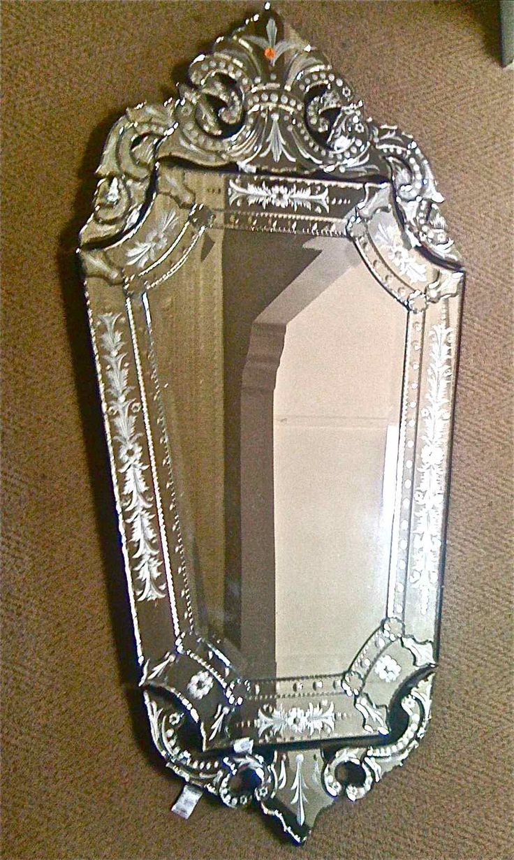 obsidian venetian mirror - I am DYING to have a pretty mirror in my bathroom...boring builder square of mirror is depressing me!