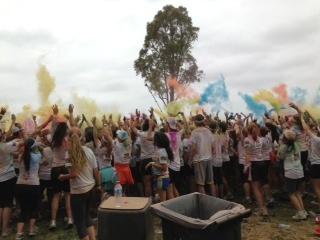 Colour run Melbourne 25/11/2012