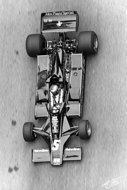 Mario in the John Player Special. 1977 Monaco GP.