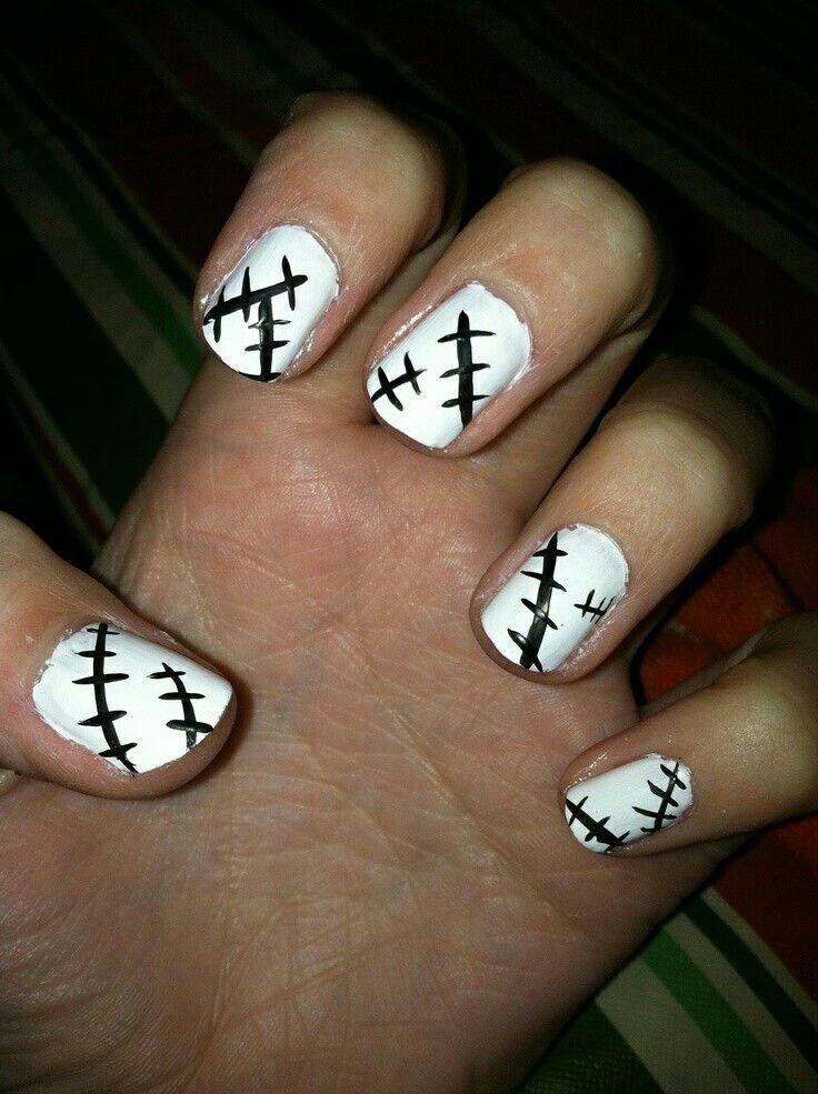 Stitches, nail polish design, Professor Frankenstein; Soul Eater