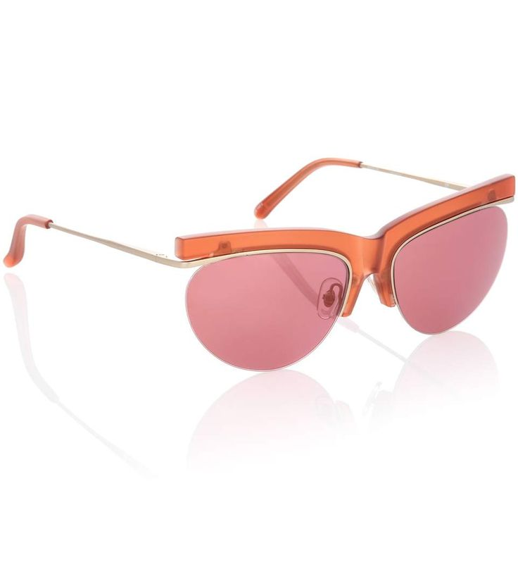 X Linda Farrow pink browline sunglasses