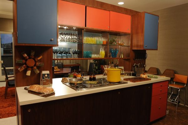 One side of the Draper kitchen.