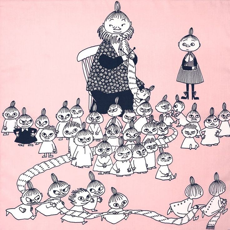 Moomins and knitting = pure love <3