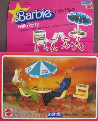 1978 Barbie   Patio Party Play Paks #