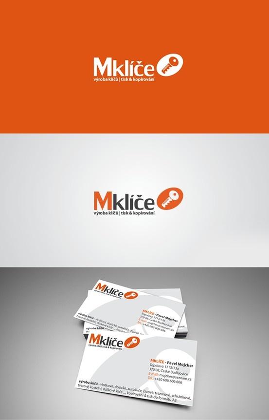 Logotyp a grafický návrh pro obchod s výrobou a prodejem klíčů v Českých Budějovicích.