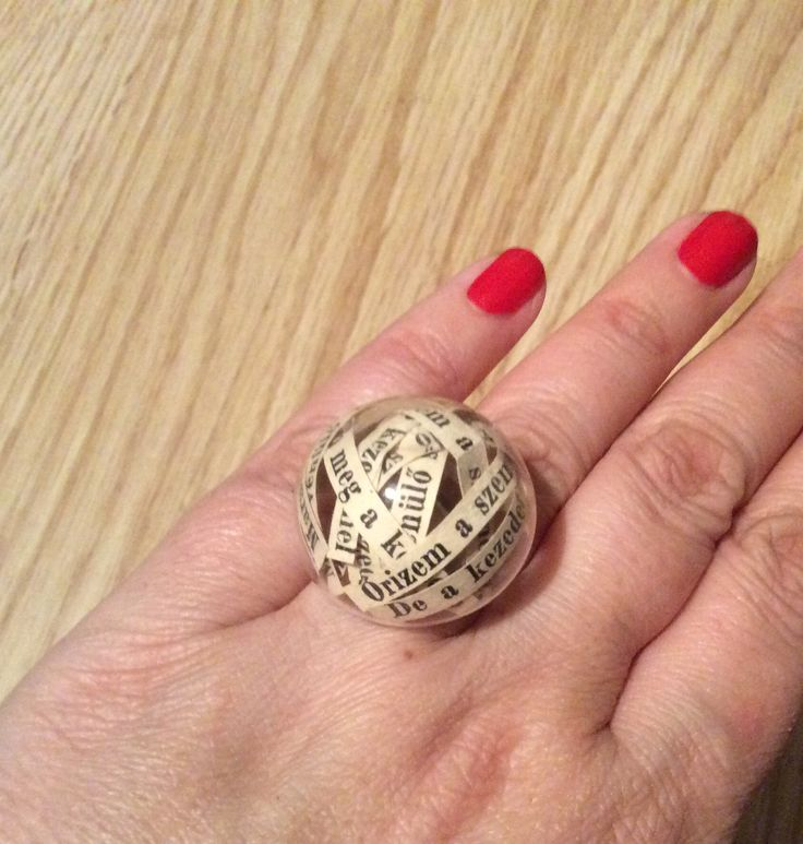 Poetry in a ring - glass half globe ring with poem (you can have yours with your favorite lines)  Giranelli hungarian design jewelry Giranelli.hu  10$
