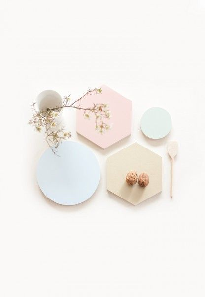For the love of pastels and geometric shapes.