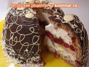 Десерт Зимняя бомба готовится не более 30 минут , /рождественская дуэль:)/.