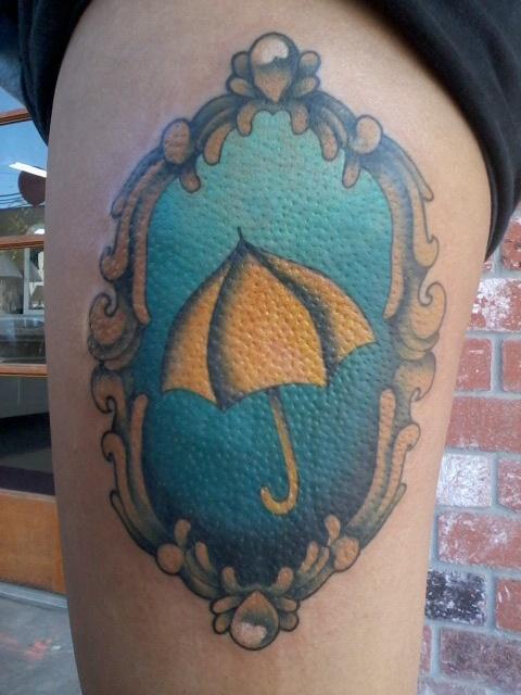 My thigh tattoo! :) #himym #yellowumbrella #howimetyourmother
