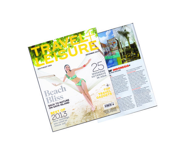 Travel + Leisure.  Luna2 studiotel included in 'Best of SE Asia' issue, December 2013.  #luna2 #travelandleisure