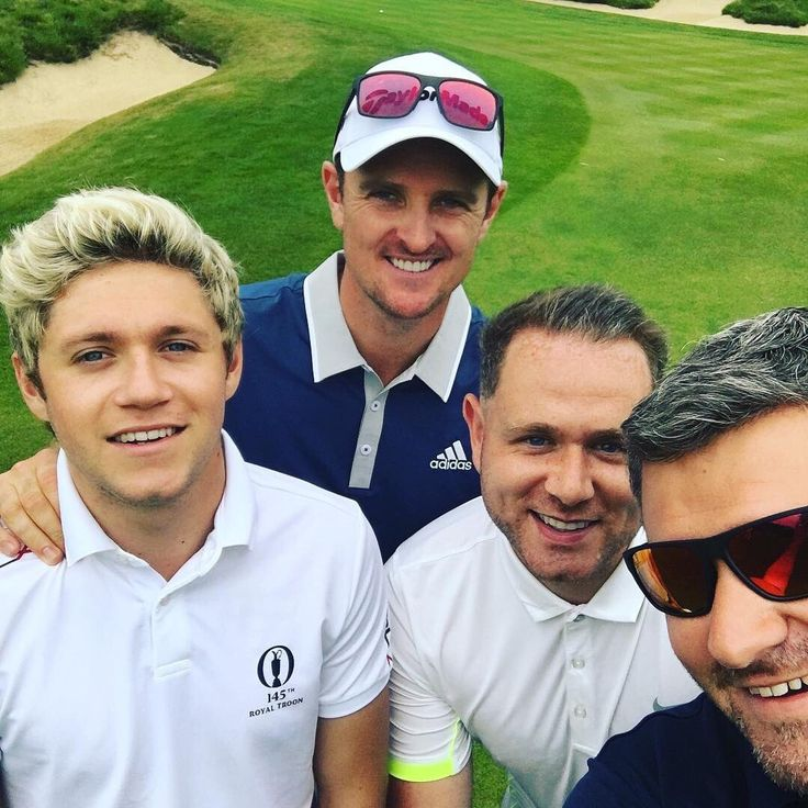 Niall today golfing with Justin Rose