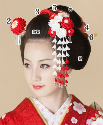 Great page (in Japanese) on how to wear kanzashi. Yes, there are rules.