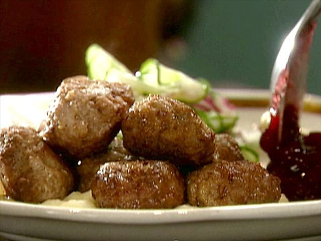 Lena's Swedish Meatballs with Lingonberry Sauce Recipe : Tyler Florence : Food Network