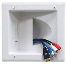 Flat Screen TV Ultra Low Profile Wall Flat Mount Recessed Plug