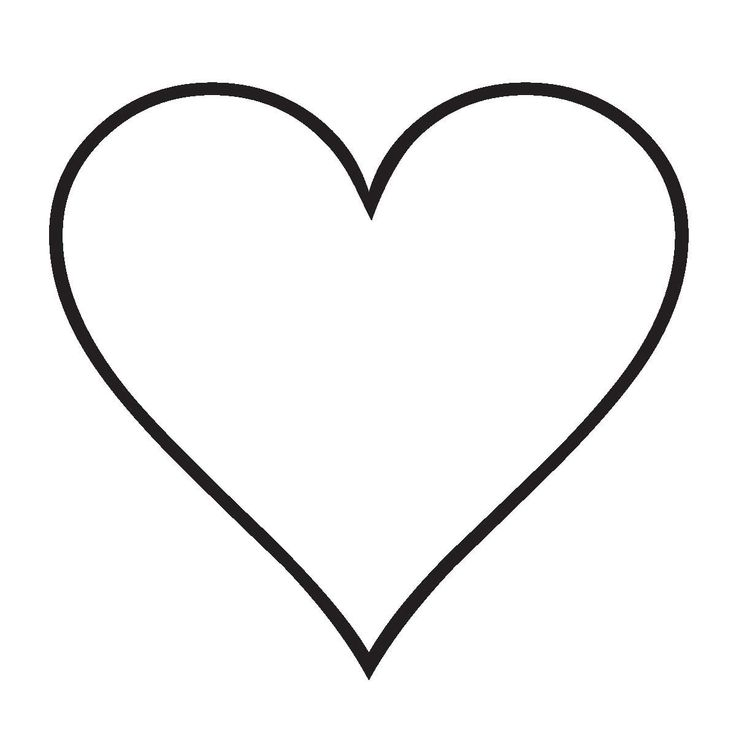 corazones para colorear simples - Buscar con Google