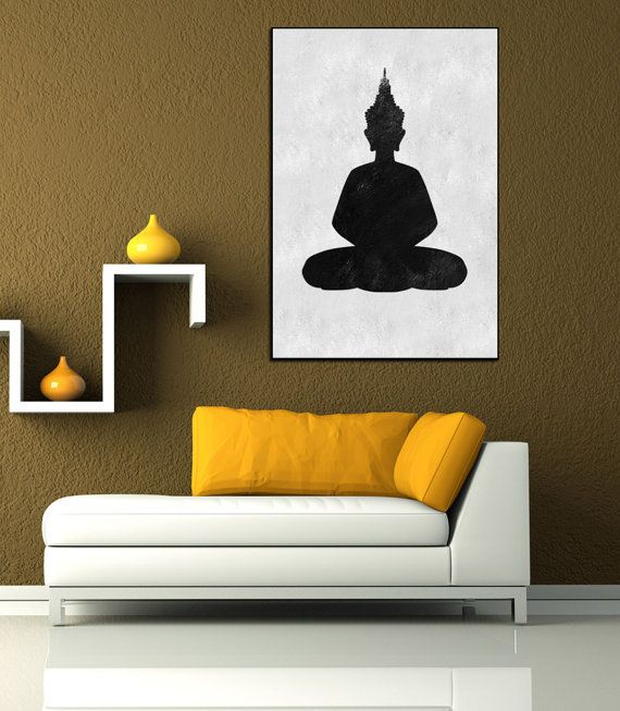 Textured Painting Canvas Art, Hand Painted Buddha Painting