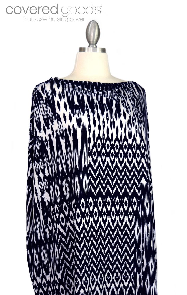 Navy Ikat multi-use nursing cover by Covered Goods ...