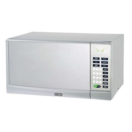 28l Microwave oven Price: R1,578.12  28 Litre capacity LED display 5 Power levels Cook by weight Mirror door (DMO351) Digital clock 60 Minute timer 6 Pre cook settings Safety lock 900-Watt microwave Jet defrost Weight defrost