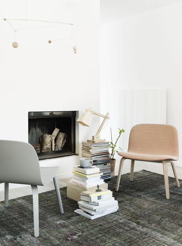 Muuto - Visu lounge chair, designed by Mika Tolvanen, comes with both an upholstery and a lacquered version in many color options.