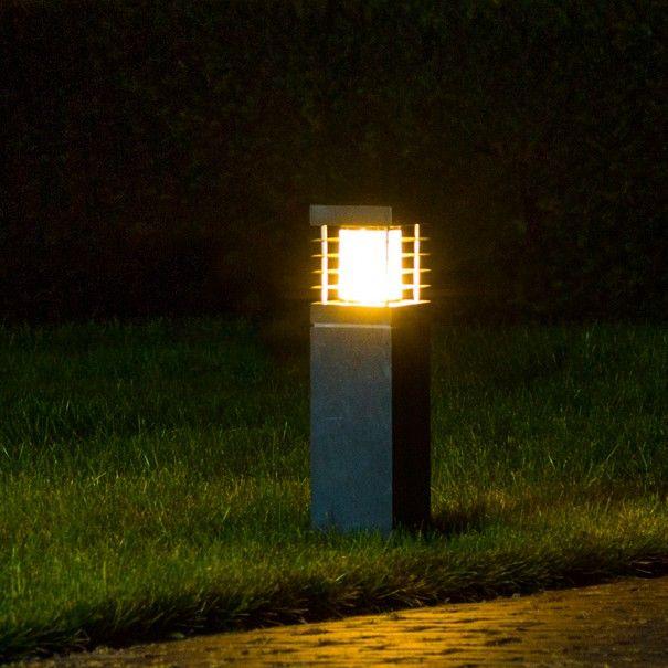 Buitenverlichting Van Nostalux Industriele Lamp Van Hardsteen Een Stoere Buitenlamp Voor Je Terras Of La Terras Verlichting Tuinverlichting Buitenverlichting