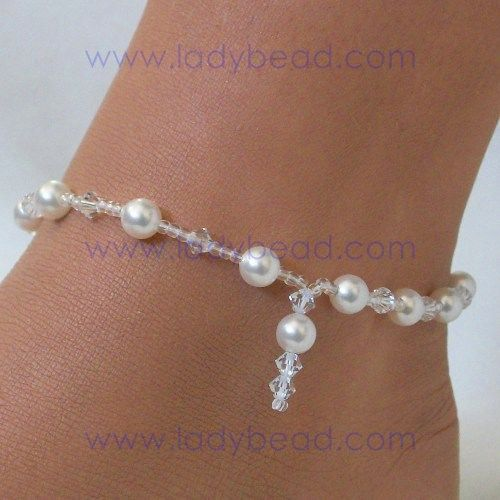 Beaded Anklet - Broken Link