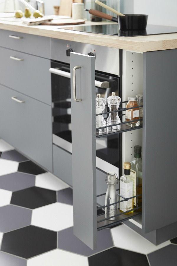 Rangement Ouvrant Epices Et Bouteilles Pour Meuble Ou Colonne L 15 Cm Diy Kitchen Renovation Kitchen Design Kitchen Renovation