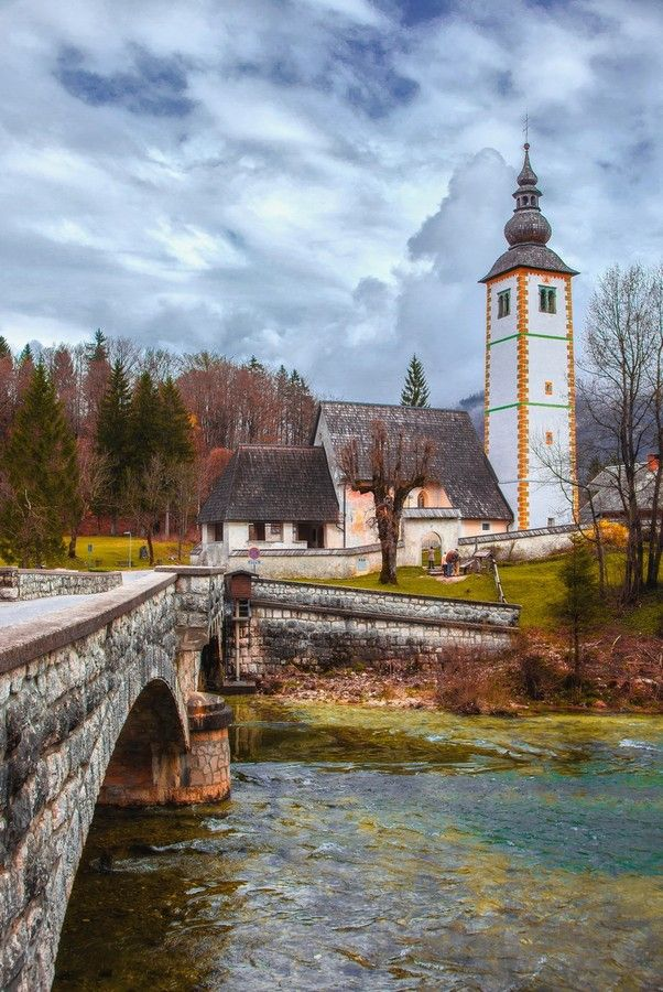 Bohinj, Slovenia Ribčev Laz is located in the eastern part of Bohinj and represents the center of the action and best-known image of Bohinj. From the boat we have magnificent views of Ribčev Laz , a bridge in Bohinj Lake , St. . John the Baptist , north shore beach in Old Fuzina , bar near the beach and the rest