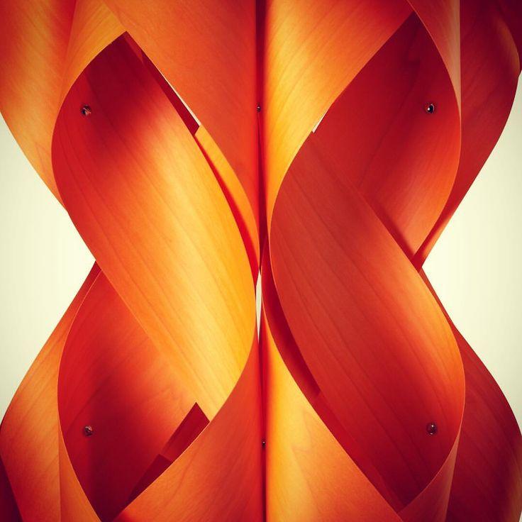 Anfora designed by miGUEL HERRANZ  for LZF Lamps. Handmade through design. @lzflamps | design | wood veneer | light | orange | chandelier | sensual shapes | boho | bohemian | lighting | wooden lamp |