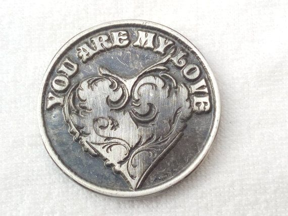 Love Token Coin - Valentines day Coin Gift - Gifts for Men - Gifts for her Pocket Token - Boyfriend gift Girlfriend Gift - Sentimental Gifts