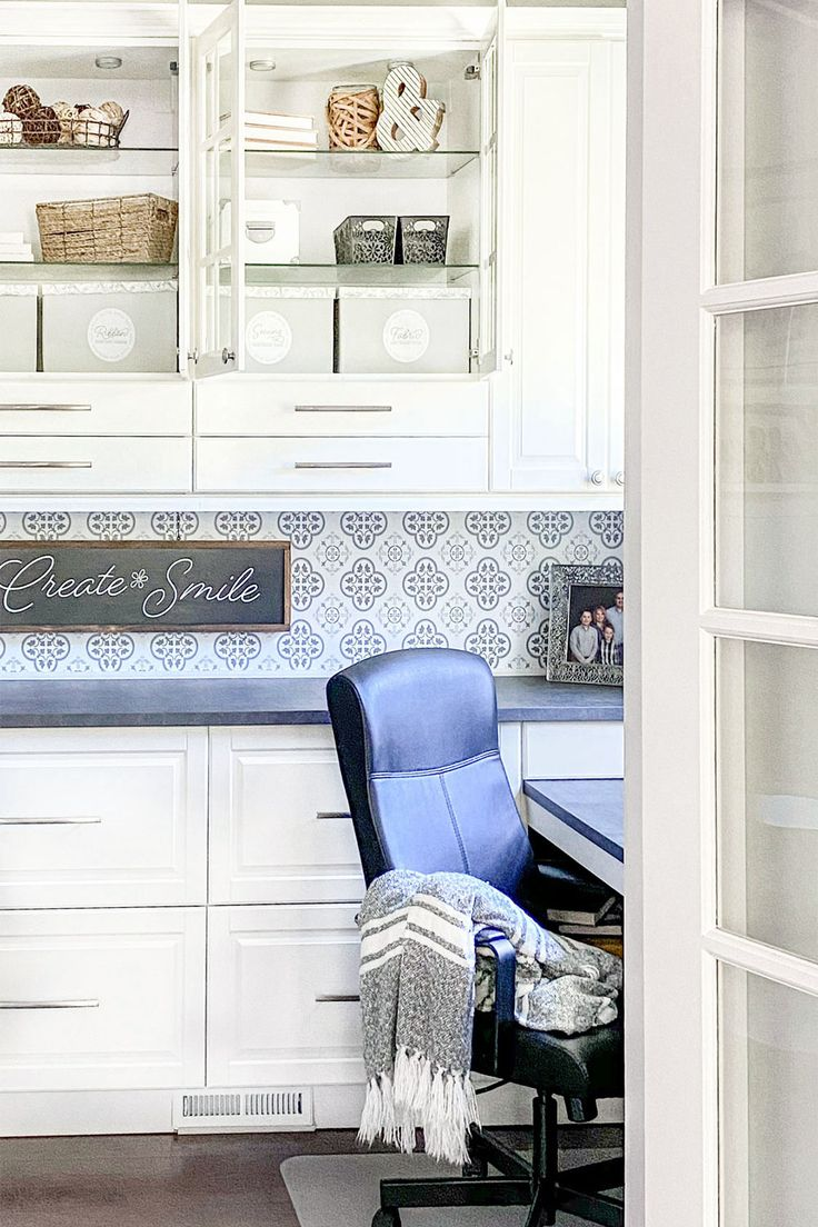 Built In Home Office Design Using Ikea Sektion in