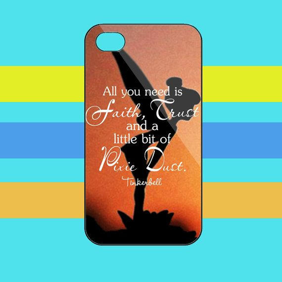 Tinkerbell+Quotes+iphone+44s/55s5c/+samsung+galaxy+by+fortuneman,+$15.50